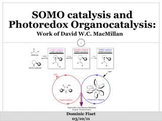 SOMO catalysis and