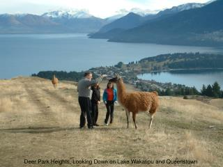 Deer Park Heights, Looking Down on Lake Wakatipu and Queenstown