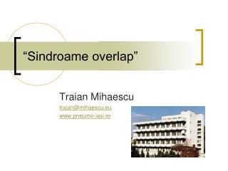 """Sindroame overlap"""