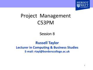 Project  Management  C53PM