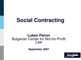 Social Contracting