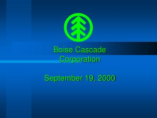 Boise Cascade Corporation September 19, 2000