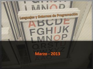 Lenguajes y Entornos de Programación