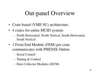 Out-panel Overview