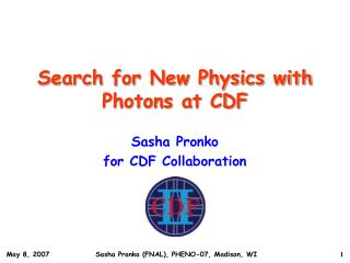 Search for New Physics with Photons at CDF