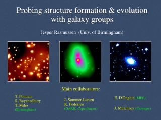 Probing structure formation & evolution with galaxy groups Jesper Rasmussen  (Univ. of Birmingham)