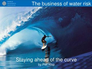 The business of water risk