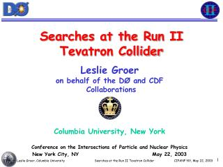 Searches at the Run II Tevatron Collider