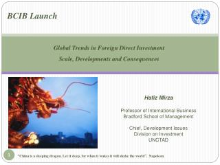 Global Trends in Foreign Direct Investment Scale, Developments and Consequences
