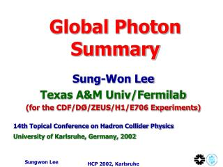 Global Photon Summary