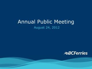 Annual Public Meeting