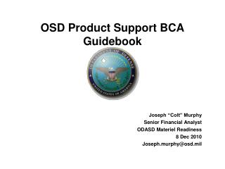 OSD Product Support BCA Guidebook