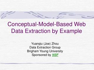 Conceptual-Model-Based Web Data Extraction by Example