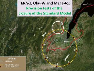 TERA-Z,  Oku -W and  Mega -top Precision  tests of the  closure  of the Standard Model