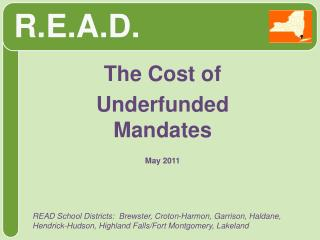 The Cost of  Underfunded Mandates May 2011