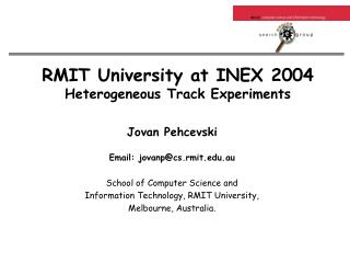 RMIT University at INEX 2004 Heterogeneous Track Experiments