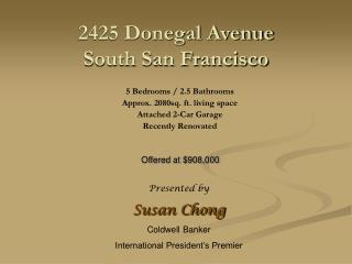 2425 Donegal Avenue South San Francisco