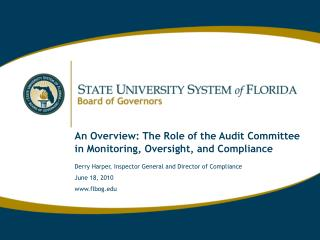 An Overview: The Role of the Audit Committee in Monitoring, Oversight, and Compliance