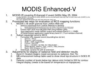 MODIS Enhanced-V