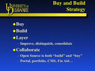 Buy and Build  Strategy