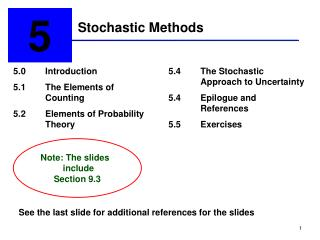 Stochastic Methods