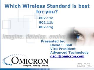 Which Wireless Standard is best for you?
