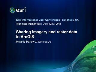 Sharing imagery and raster data in ArcGIS