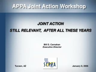 APPA Joint Action Workshop