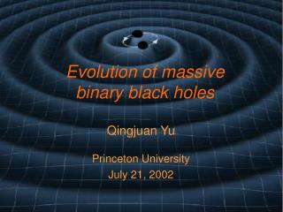 Evolution of massive binary black holes