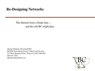 Re-Designing Networks