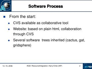 From the start: CVS available as collaborative tool