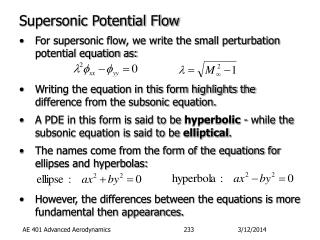 Supersonic Potential Flow