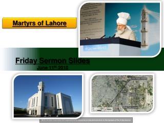 Friday Sermon Slides June 11 th 2010
