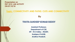Connectivity and Paths