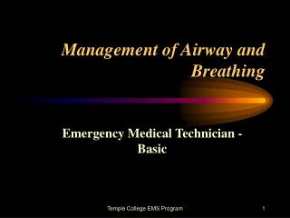 Management of Airway and Breathing