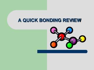A QUICK BONDING REVIEW