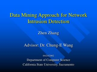Data Mining Approach for Network Intrusion Detection