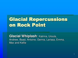 Glacial Repercussions on Rock Point