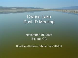 Owens Lake Dust ID Meeting