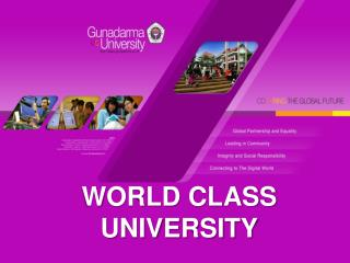 WORLD CLASS UNIVERSITY
