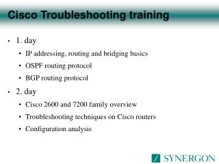 Cisco Troubleshooting training