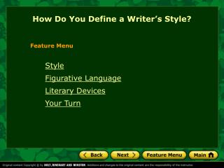 How Do You Define a Writer's Style?