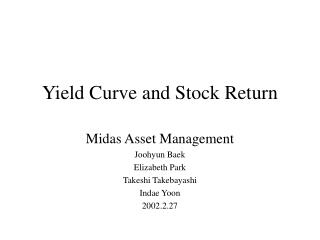 Yield Curve and Stock Return