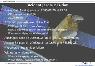 Poker Flat (Alaska) pass on 2005/09/20 at 19:00 OK : telemetry until 19:10 AGC nominal