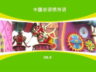 中国俗语惯用语