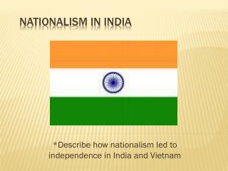 Nationalism in India