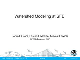 Watershed Modeling at SFEI