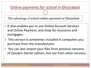 Benefit of using online payment for school in Ghaziababd