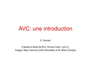 AVC: une introduction