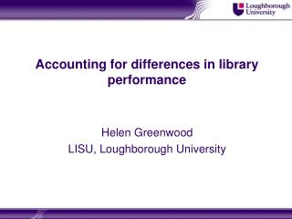 Accounting for differences in library performance